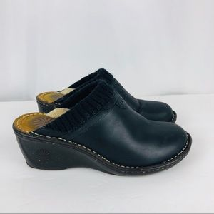 UGG Black Clogs Size 7